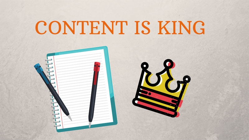 content is king for niche websites