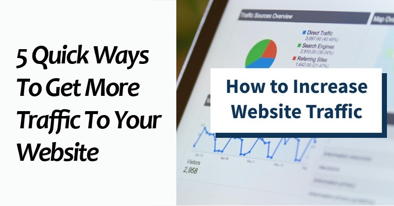 5 Quick Ways To Get More Traffic To Your Website