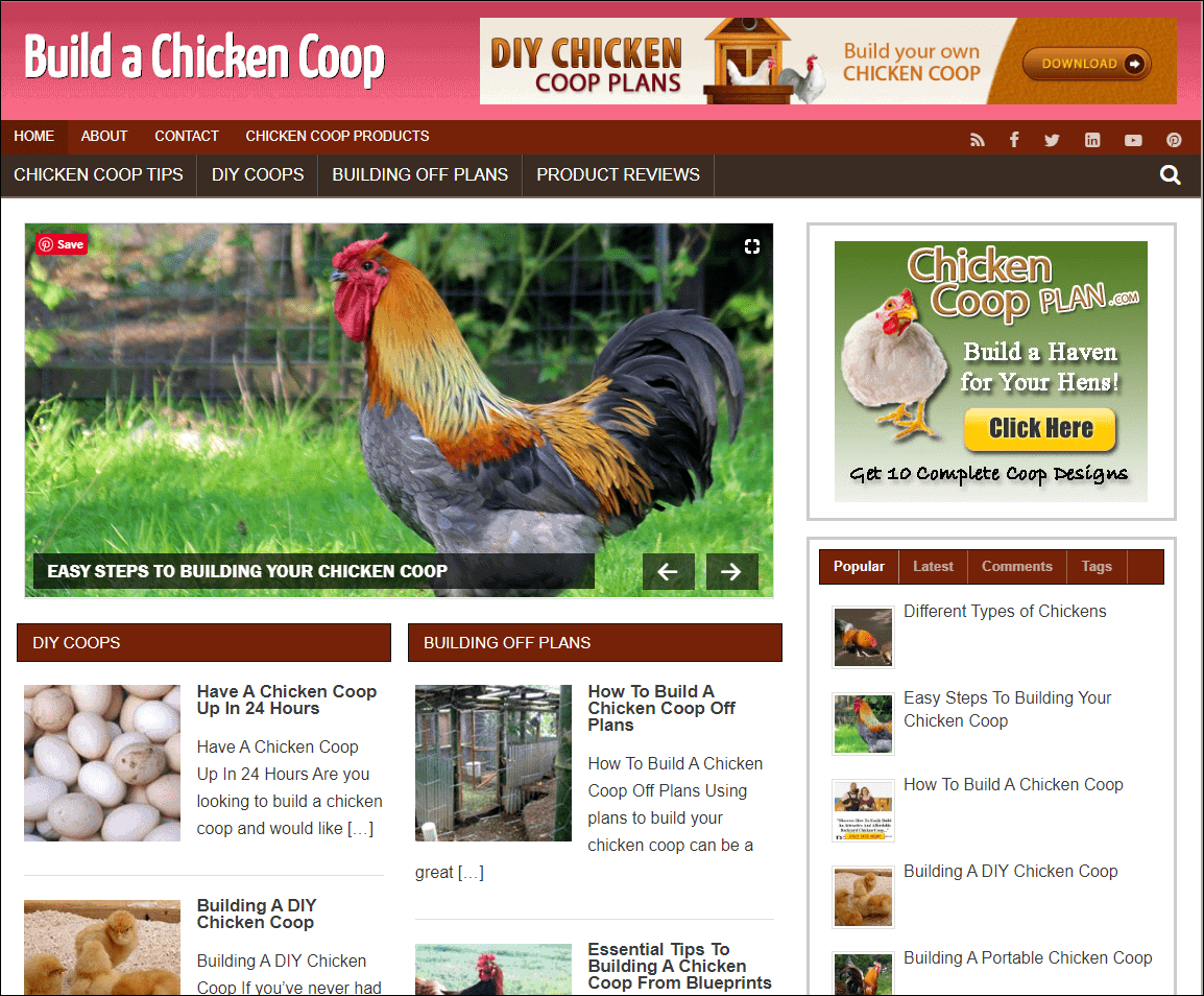 Build A Chicken Coop PLR Niche Site