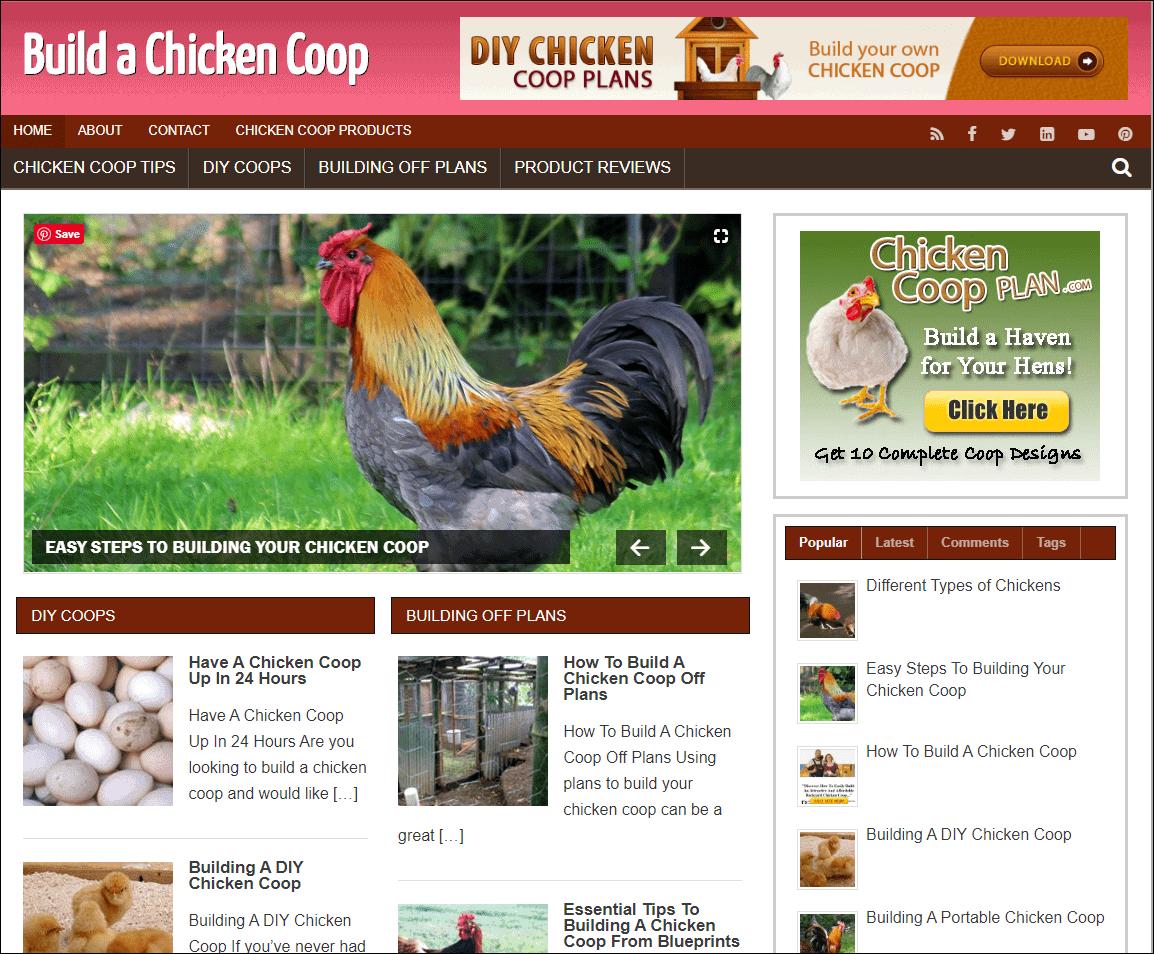Build A Chicken Coop PLR Niche Site