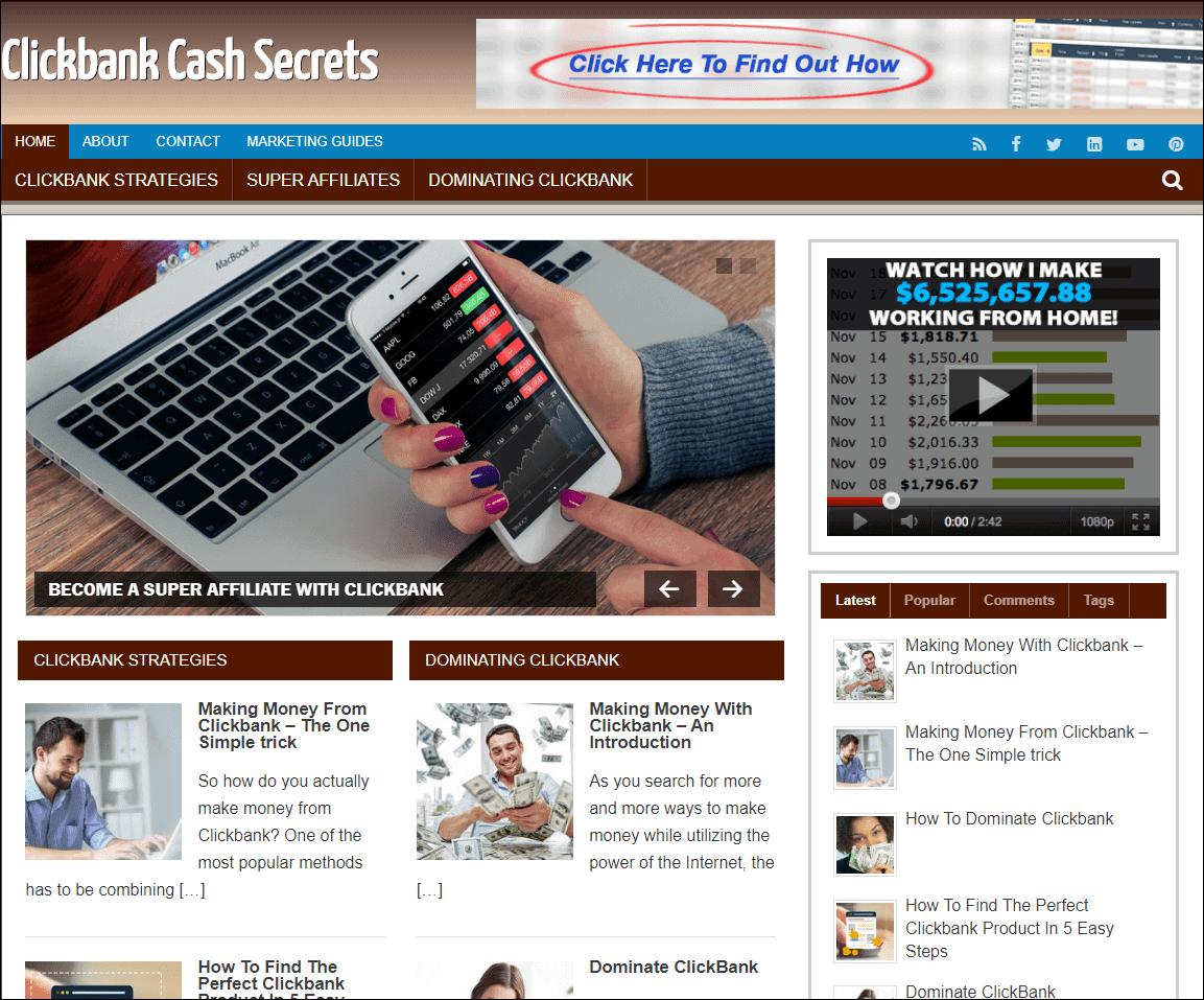 Clickbank Marketing Turnkey Niche Website