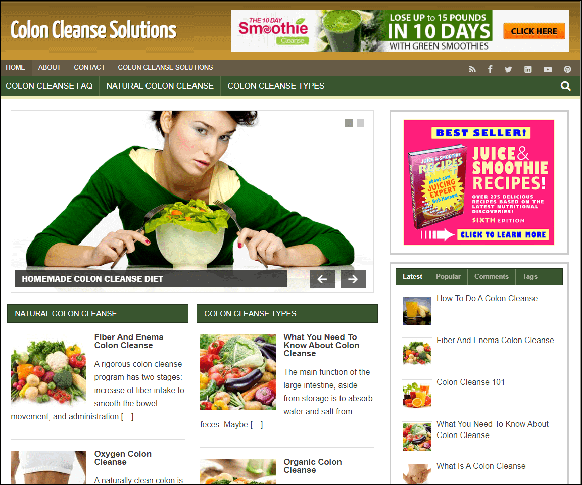 Colon Cleanse Turnkey Niche Website