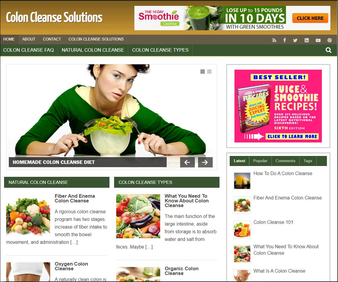 Colon Cleanse Turnkey Niche Website