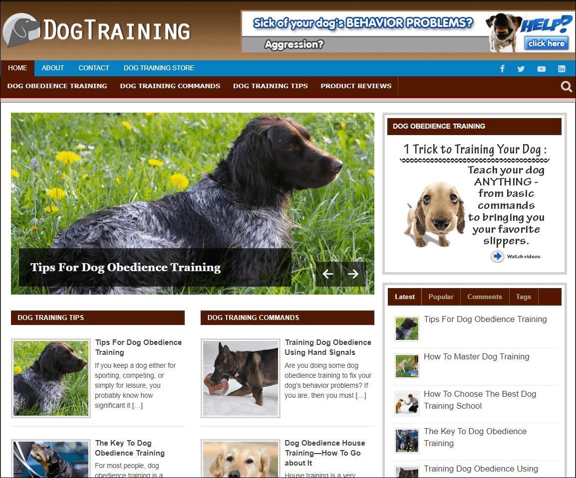 Dog Training Wordpress PLR Niche Blog