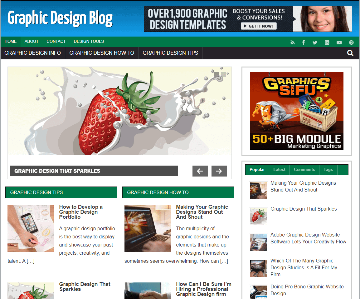 Graphics Design Wordpress Niche Blog