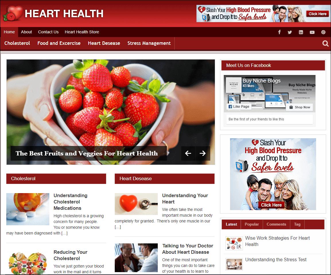 Heart Health PLR Niche Blog