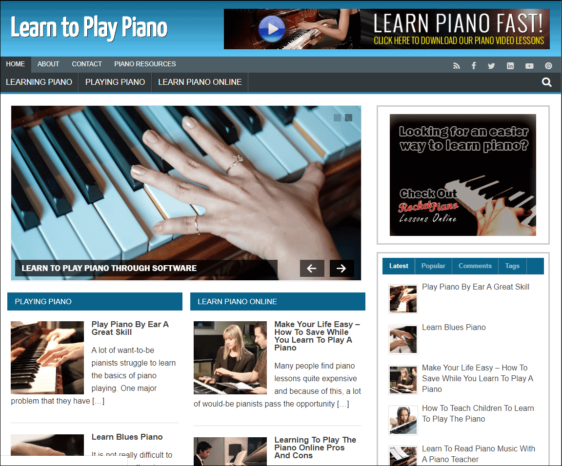 Learn Piano PLR Niche Blog