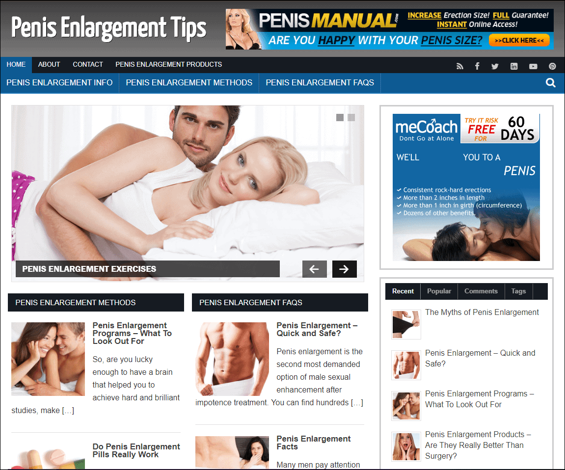 Penis Enlargement PLR Niche Site