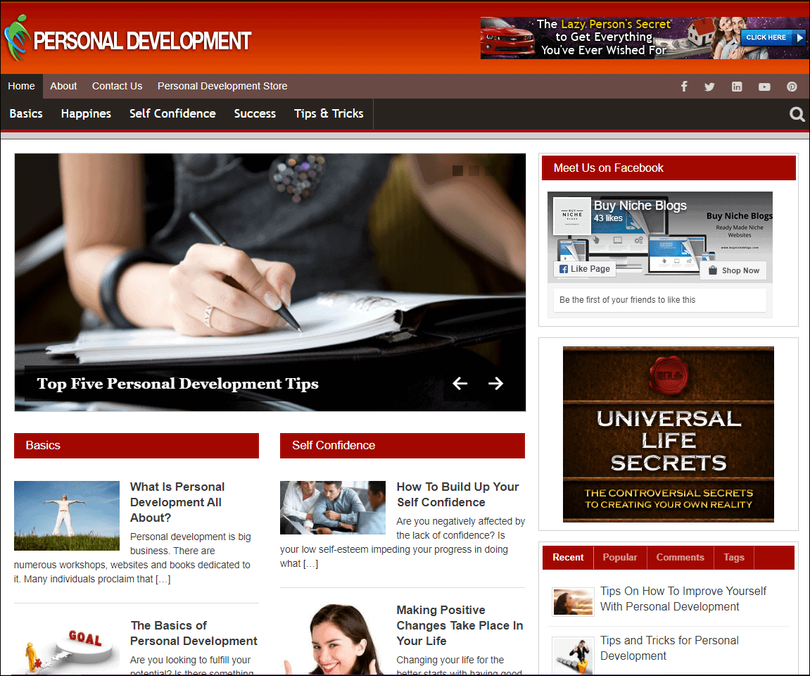 Personal Development Turnkey Website