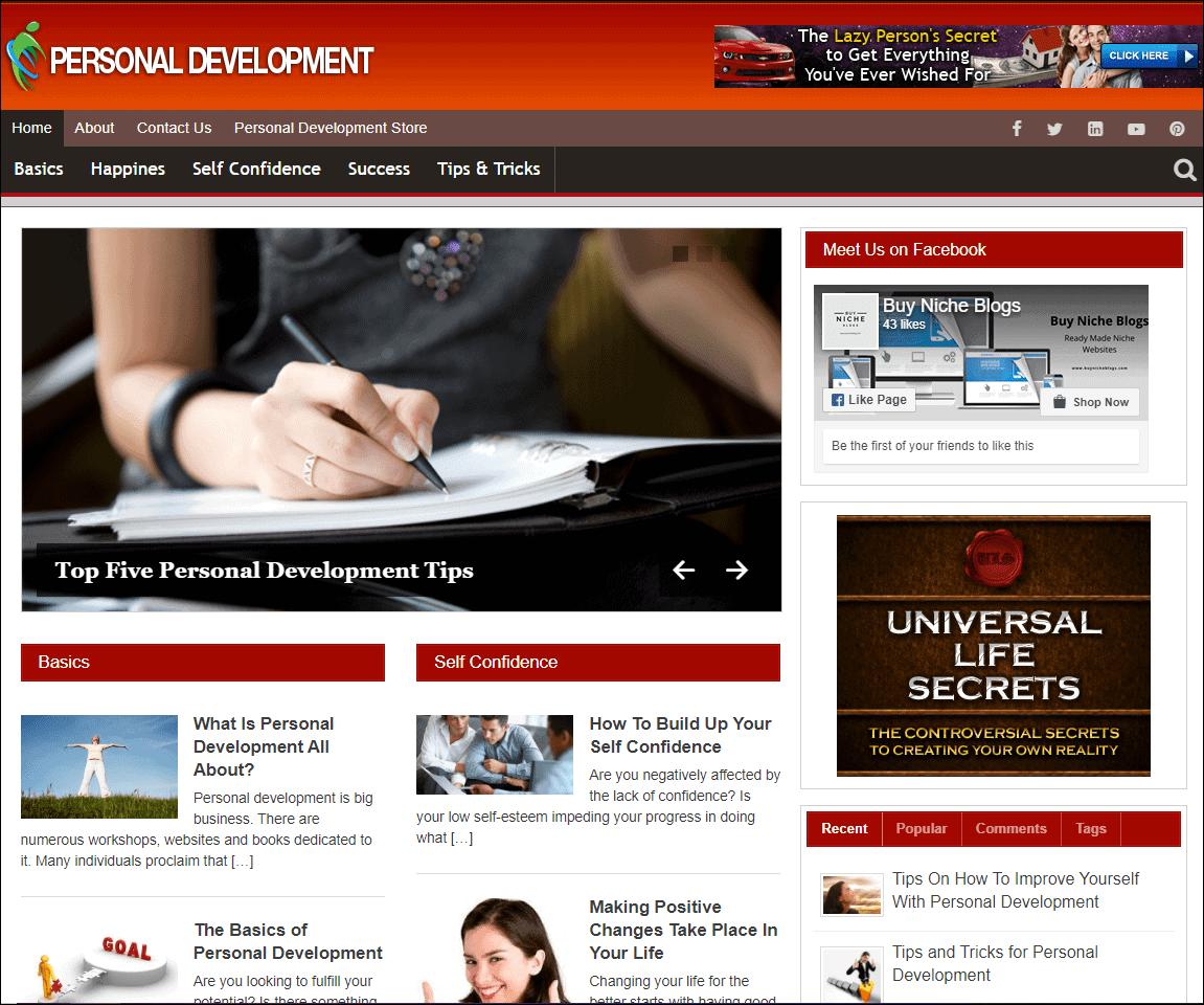 Personal Development Turnkey Website