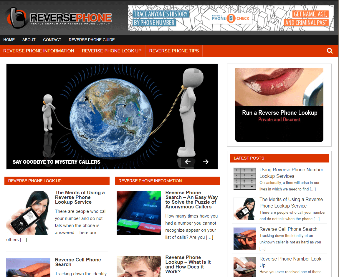 Reverse Phone Wordpress PLR Blog