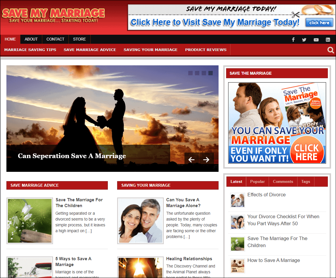 Save My Marriage PLR Niche Blog