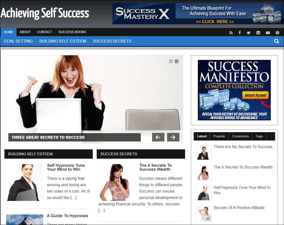 Self Success Ready Made Starter Website