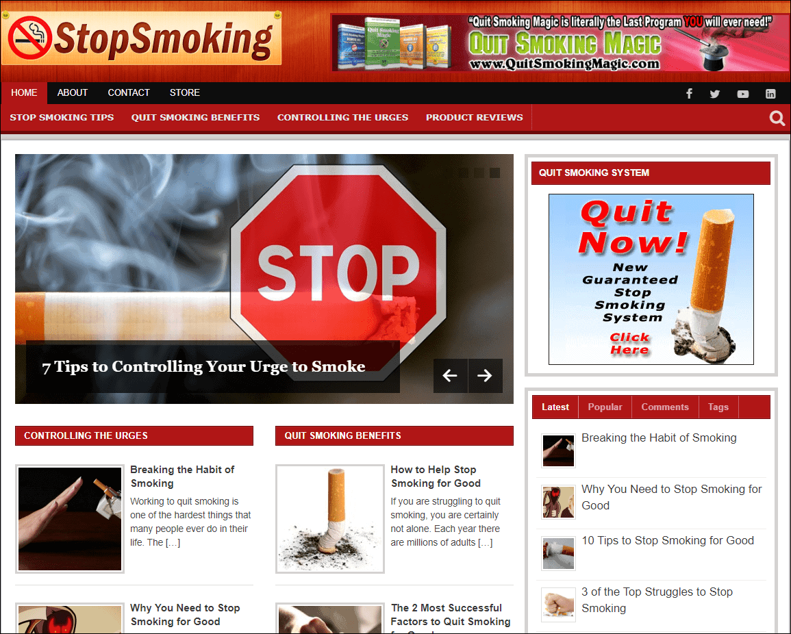Stop Smoking PLR Niche Blog