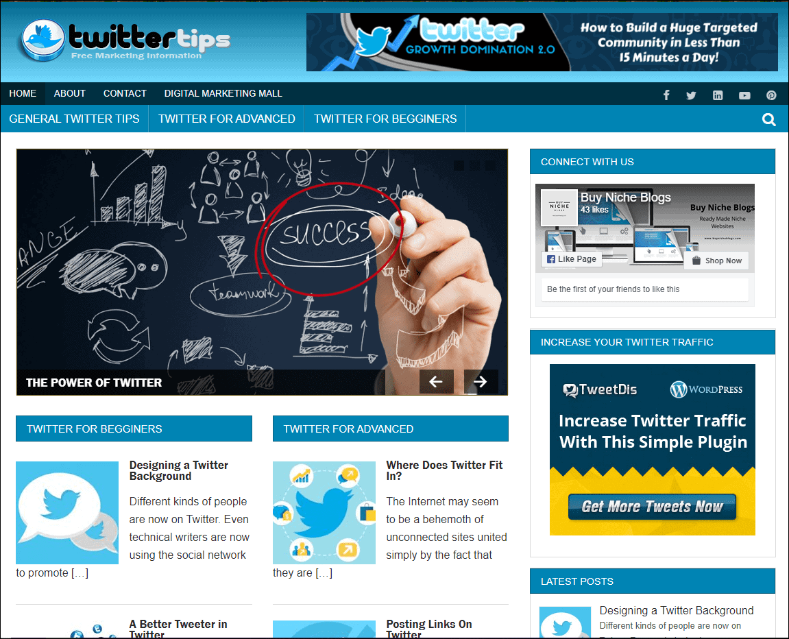 Twitter Niche Blog – Ready Made Website