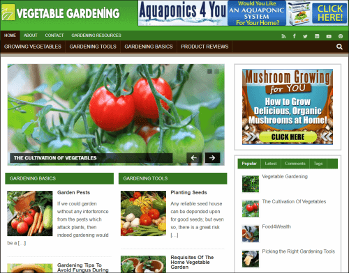 Vegetable Gardening Niche PLR Blog