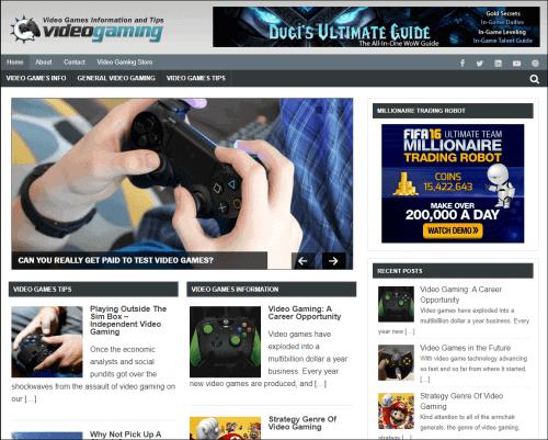 Video Gaming Niche Site