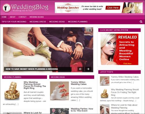 Wedding Wordpress PLR Niche Blog