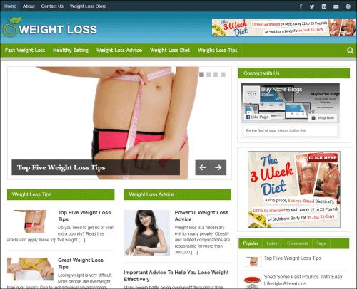 Weight Loss Niche Blog