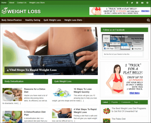 Weight Loss Niche Blog