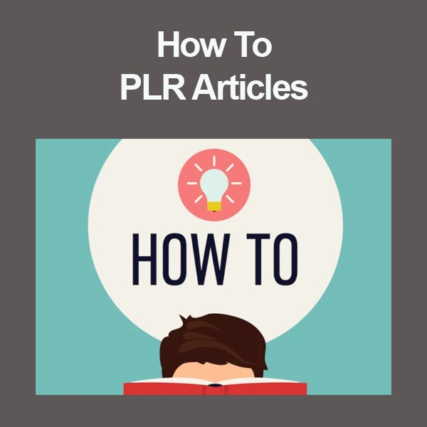 how to plr articles